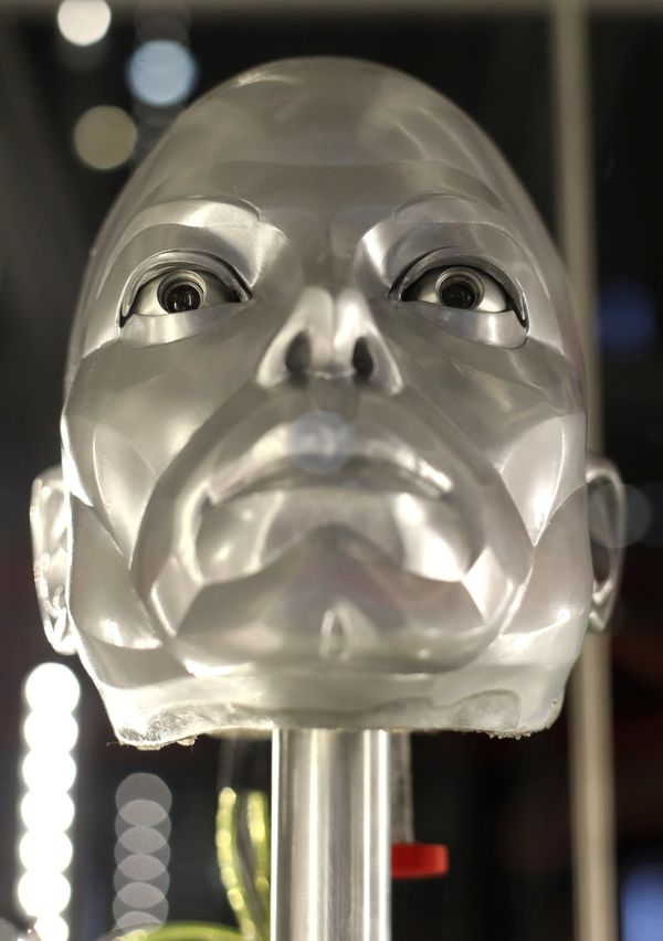 "Michael Jackson robot mask from the film ""Moonwalker."""