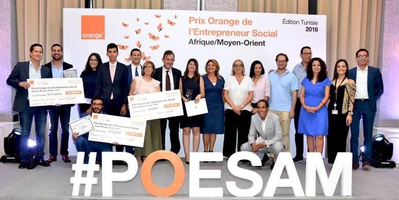 Les lauréats nationaux du Prix Orange de l'Entrepreneur Social 2018