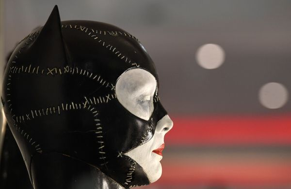 "Catwoman's mask, worn by Michelle Pfeiffer in the 1992 film ""Batman Returns"""