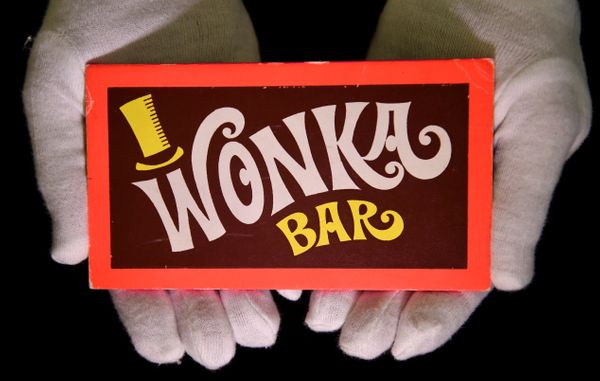 "A Wonka Bar from the 1971 film ""Willy Wonka and the Chocolate Factory."""