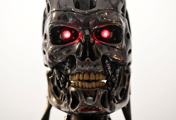"A detail of a Stan Winston endoskeleton from 1991's ""Terminator 2: Judgment Day."""