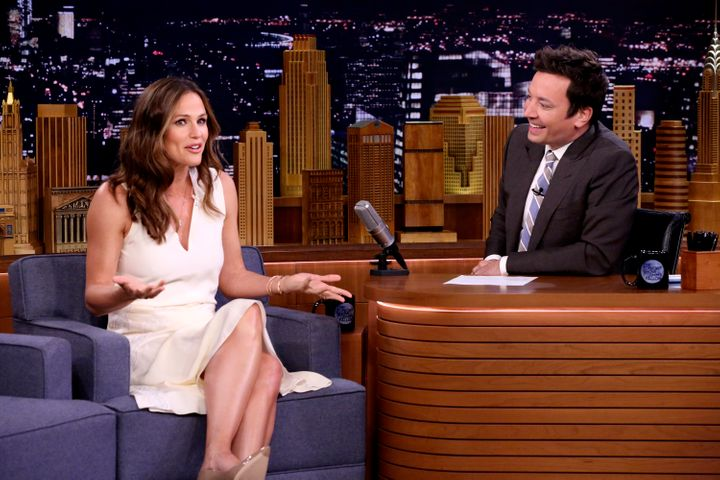 "Jennifer Garner on ""The Tonight Show Starring Jimmy Fallon"" on Sept. 5."