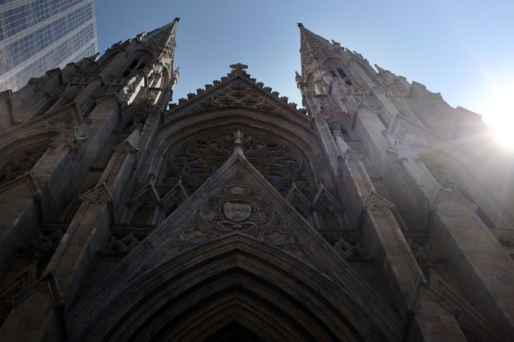 St. Patrick's Cathedral, the seat of the Roman Catholic Archdiocese of New York, is viewed on September 8, 2015.