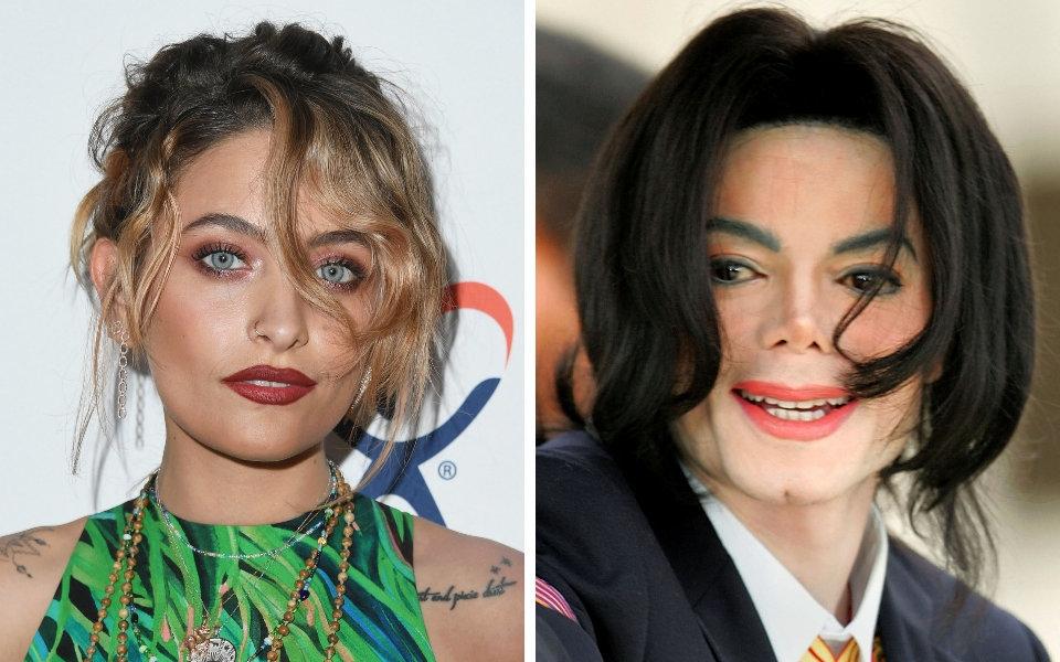 Paris Jackson, left, and Michael Jackson.