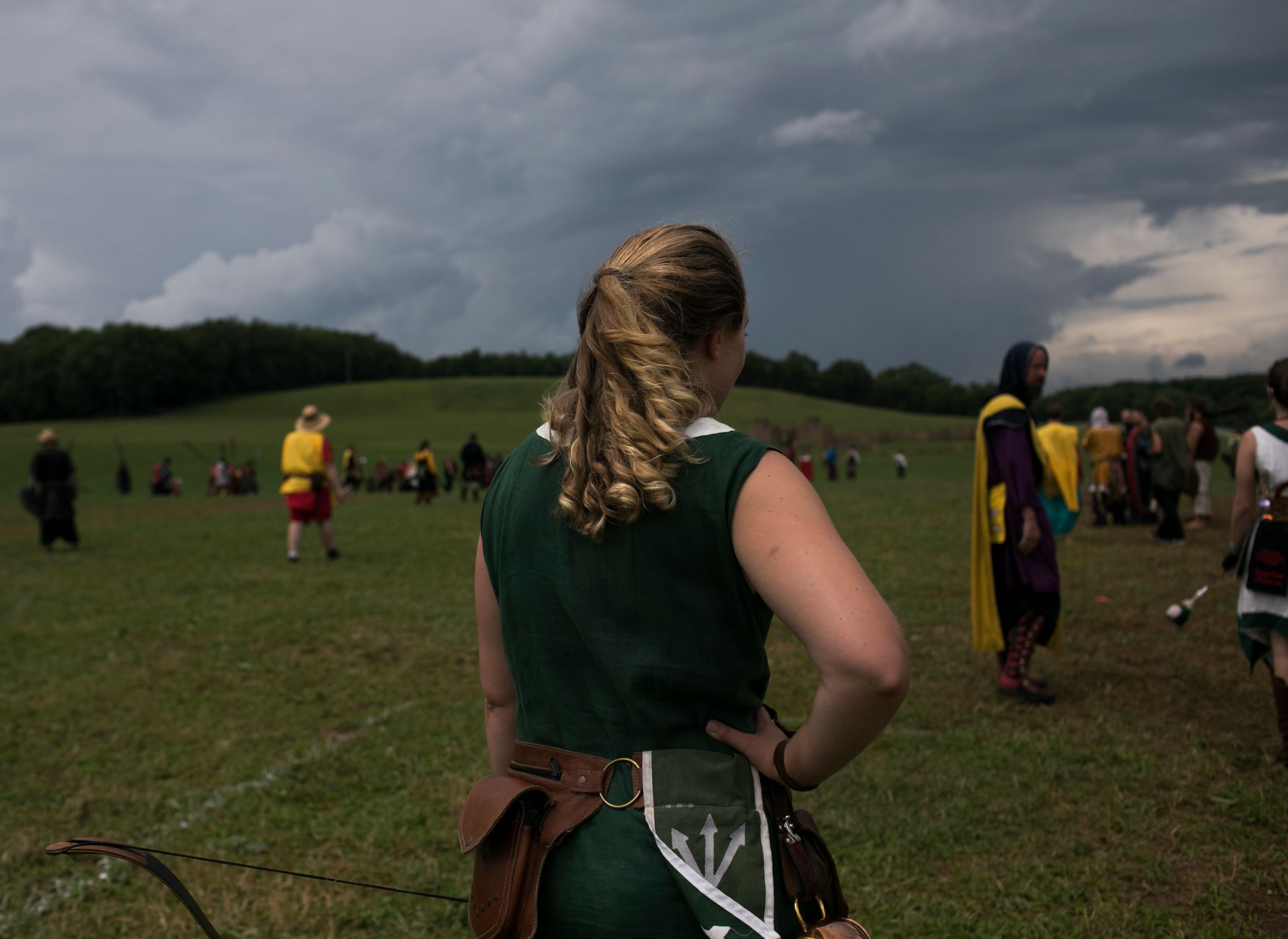 Gretchen Arnold stands on the battlefield at Ragnarok.