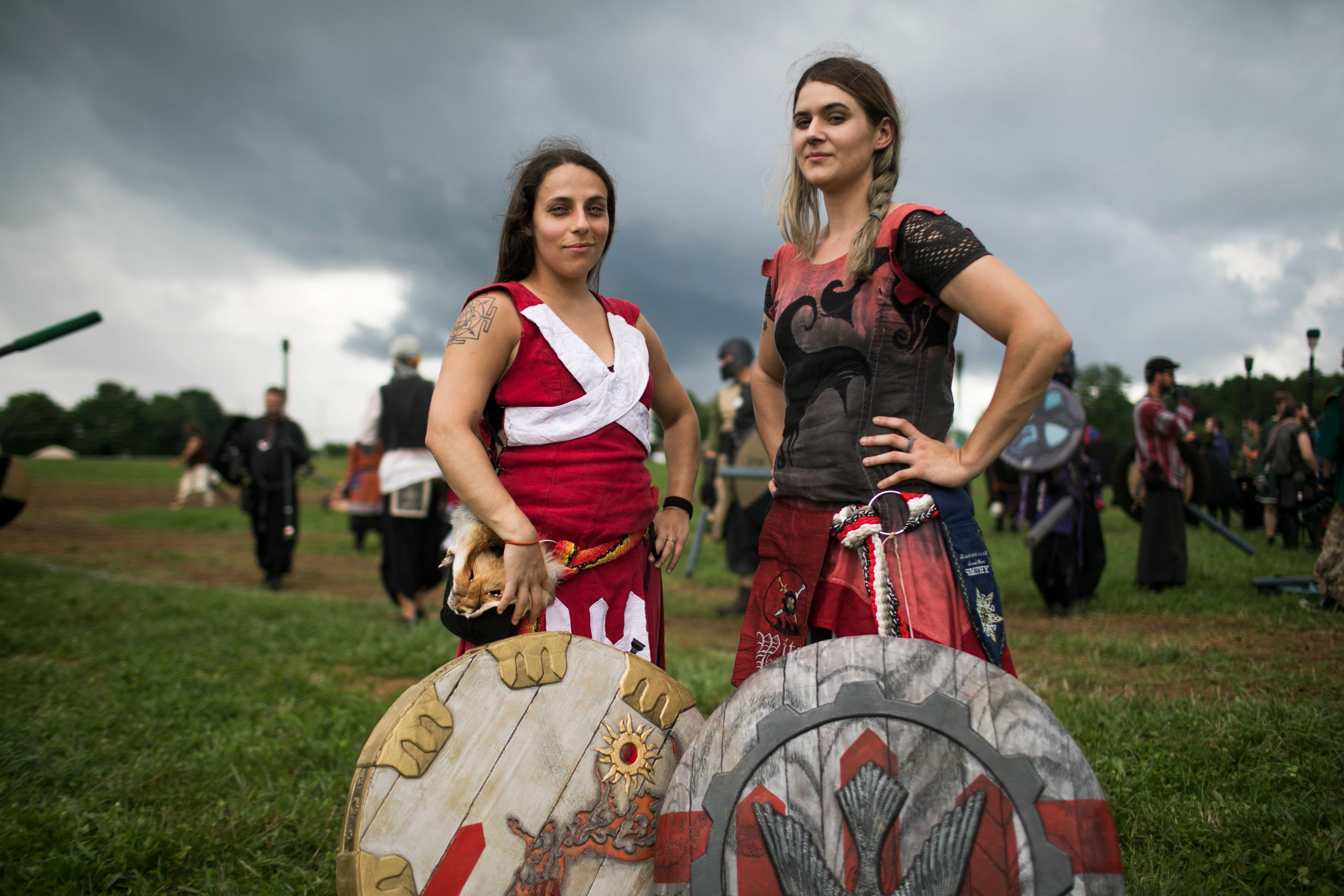 Ianje Castallanos and Sev Gedra, Queens of Ragnarok.