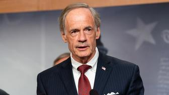 WASHINGTON, DC, UNITED STATES - 2018/06/27: United States Senator Tom Carper (D-DE) at a press conference about the proposed Central American Reform And Enforcement Act in the US Capitol. (Photo by Michael Brochstein/SOPA Images/LightRocket via Getty Images)
