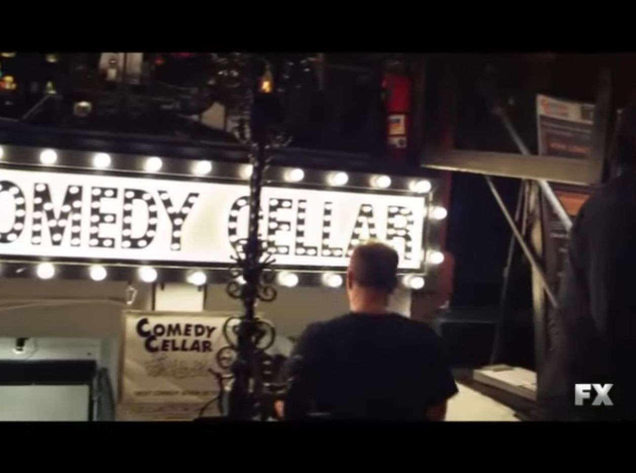 """The Comedy Cellar seen in the opening credits of """"Louie."""""""
