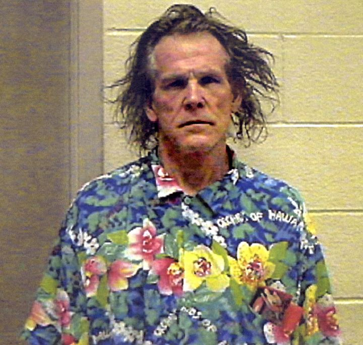 Actor Nick Nolte's infamous police photo from Sept. 11, 2002.
