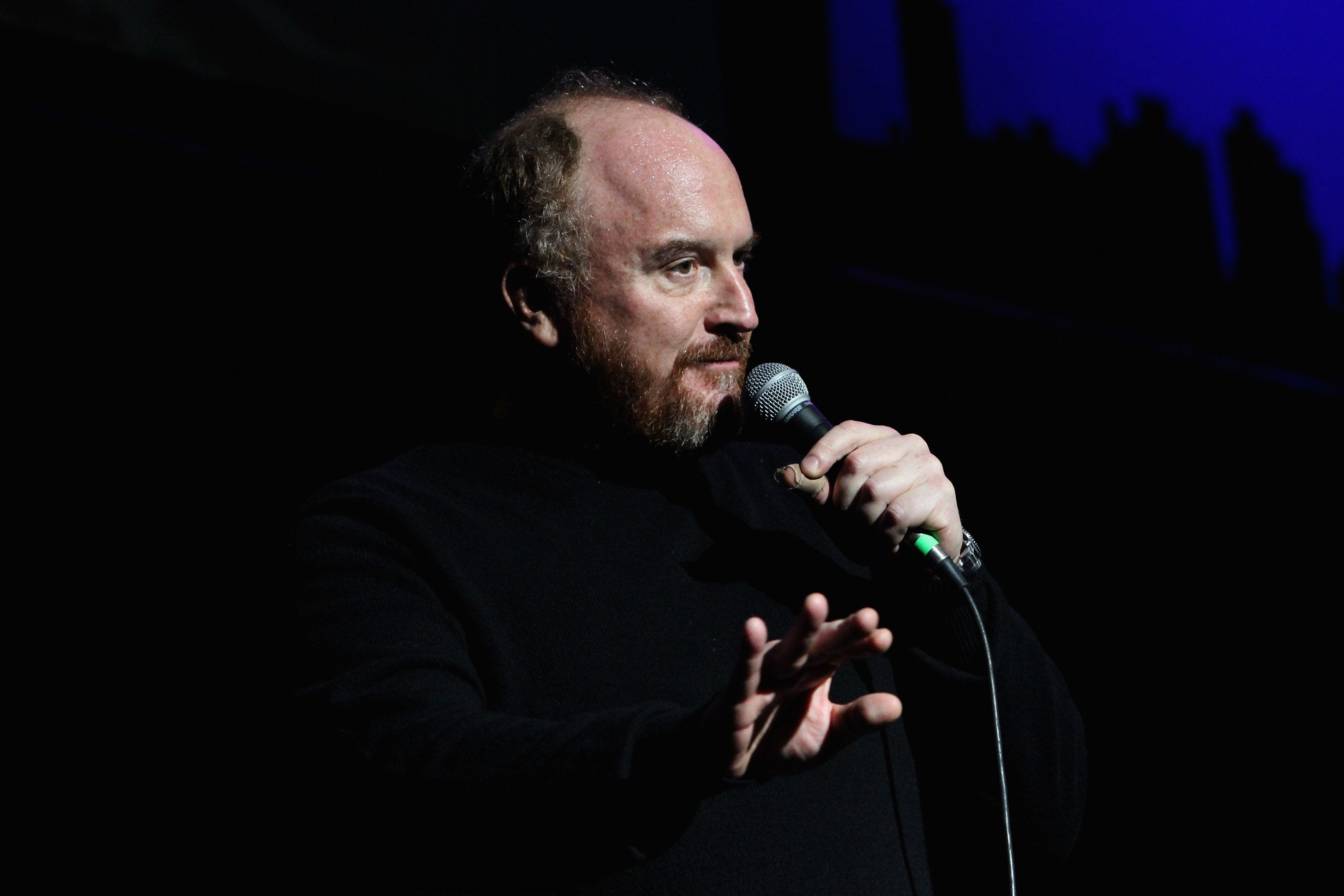 NEW YORK, NY - NOVEMBER 05:  Comedian Louis C.K. performs onstage at The New York Comedy Festival and The Bob Woodruff Foundation present the 8th Annual Stand Up For Heroes Event at The Theater at Madison Square Garden on November 5, 2014 in New York City.  (Photo by Monica Schipper/Getty Images for New York Comedy Festival)