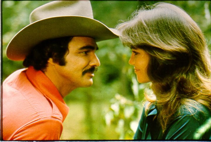 """Burt Reynolds and Sally Field in 1977's """"Smokey and the Bandit."""""""