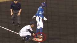 일본 트위터에서 비판중인 한일전 김대한 선수의 주루