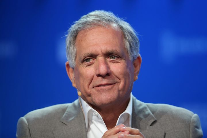 Moonves is seen in Beverly Hills, California, in May 2017.