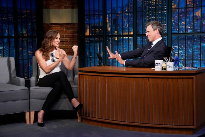 "Jennifer Garner during a recent appearance on ""Late Night With Seth Meyers."""