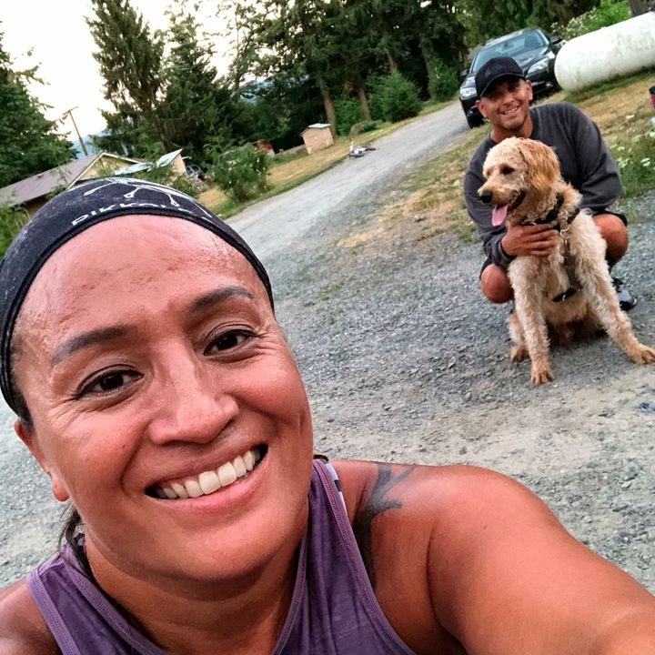 "Joseph Johnson, right, and his wife Lona, left, of Whatcom County in Washington, pose with their late dog, Jax. ""He was"