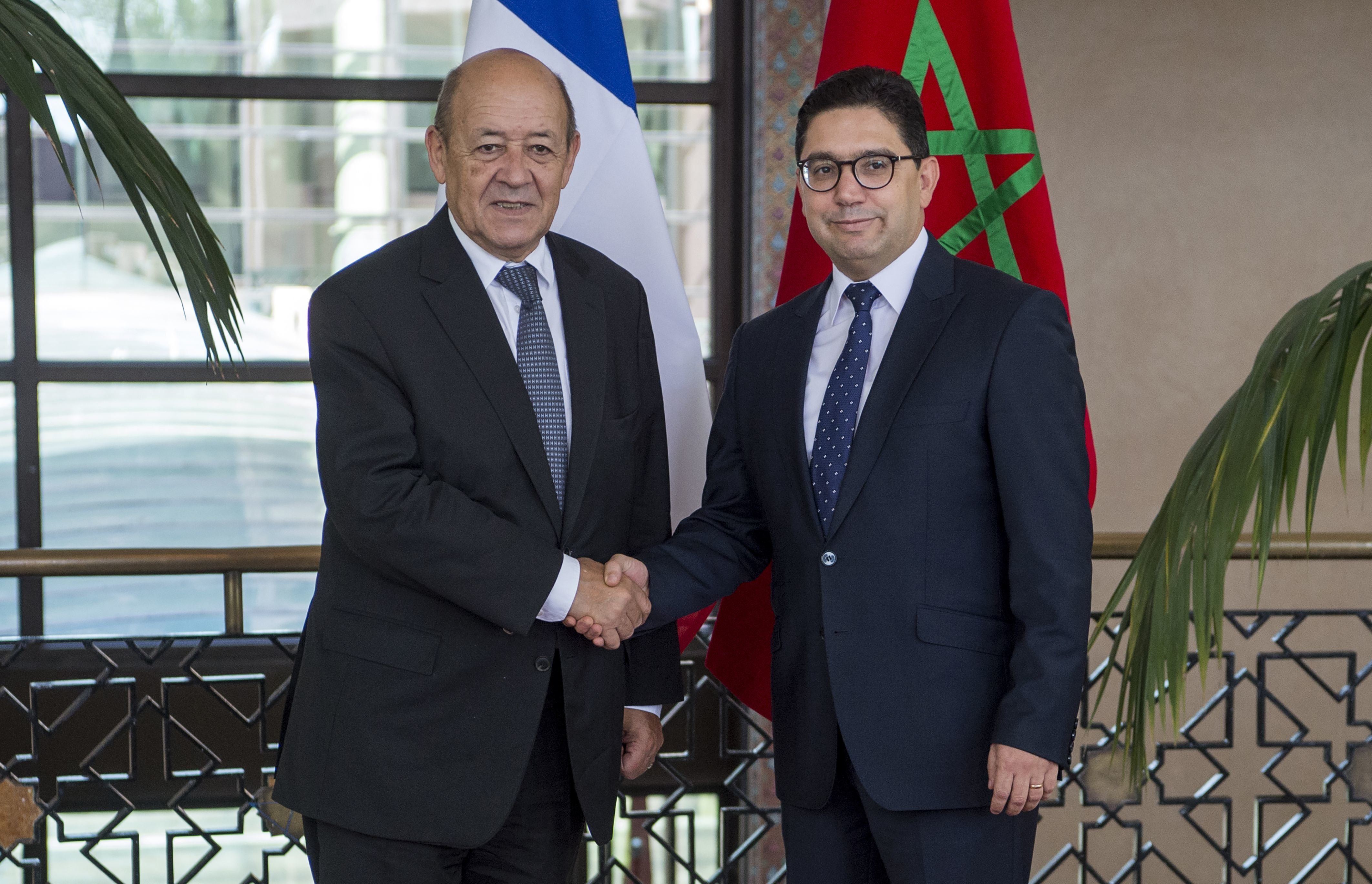 Le chef de la diplomatie française, Jean-Yves Le Drian, en visite au Maroc