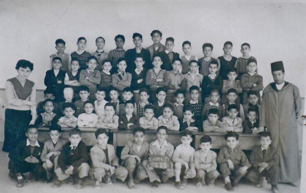 Classe de CE1 à Fès, année scolaire 1952-1953.