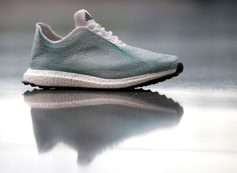 An Adidas shoe made from recycled ocean