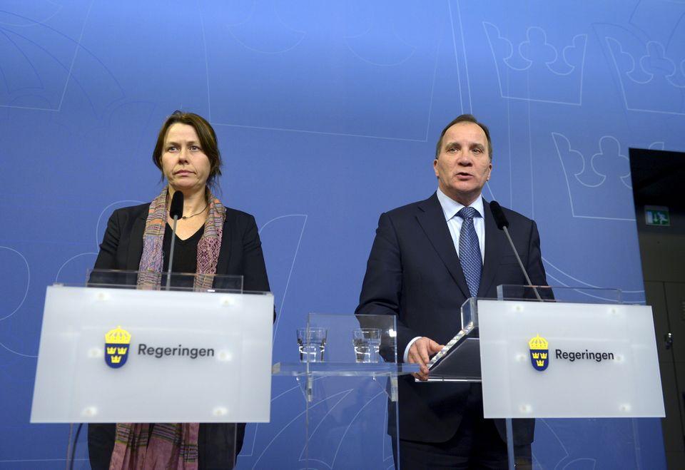 Asa Romson neben Premier Stefan