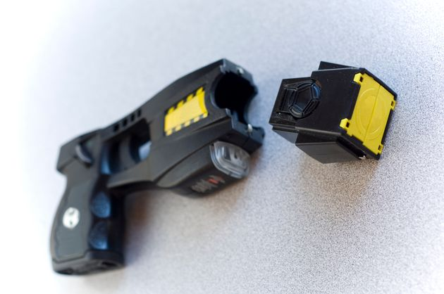According to the American Civil Liberties Union, the prongs of a Taser send a 50,000-volt shock followed...