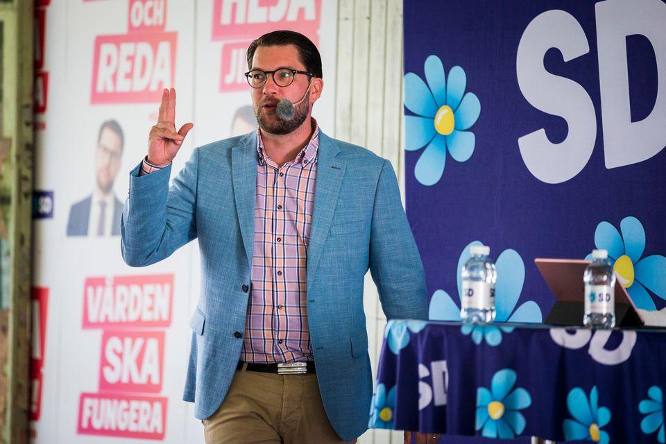 Blümchen statt Nazi-Symbole: der Chef der Schwedendemokraten