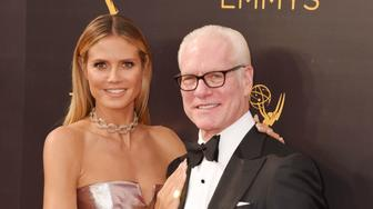 LOS ANGELES, CA - SEPTEMBER 11: Model/TV personality Heidi Klum and fashion consultant/TV personality Tim Gunn attend the 2016 Creative Arts Emmy Awards held at Microsoft Theater on September 11, 2016 in Los Angeles, California. (Photo by Jeffrey Mayer/WireImage)
