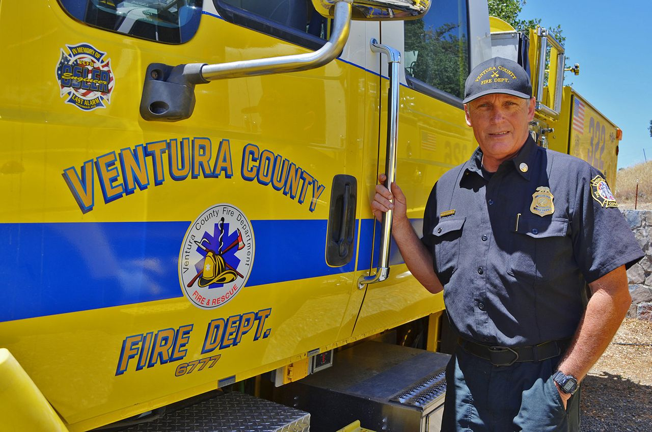 Robert Szczepanek, a battalion chief at the Ventura County Fire Department, was among the more than 3,000 responders to the Pawnee fire.