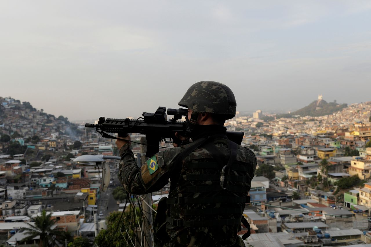 Brazil's military took over public security in Rio de Janeiro in February. The policy has led to increases in homicides since the intervention began. Bolsonaro has suggested giving Brazil's military and police more leeway to shoot and kill.