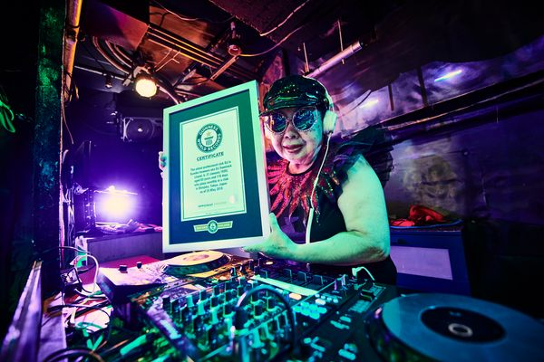 SumiRock, an 83-year-old woman in Tokyo, still DJs at clubs at least once a month.