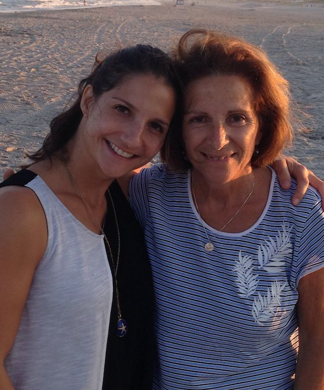 Rachel Nusbaum with her mother in 2016