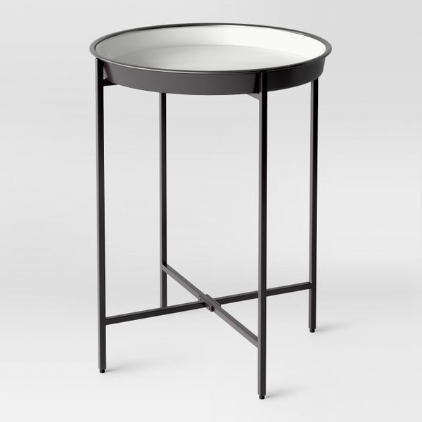 """Get it <a href=""""https://www.target.com/p/pradet-tray-accent-table-black-white-project-62-153/-/A-52399893"""" target=""""_blank"""">he"""