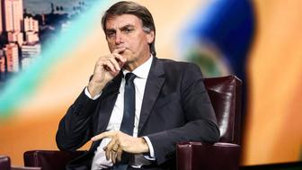 Brazilian Congressman Jair Bolsonaro listens during a Bloomberg Television interview in New York, U.S., on Thursday, Oct. 12, 2017. After years of recession, political crisis and corruption scandal, Brazil's electorate is deeply divided with former President Luiz Inacio Lula da Silvaof the leftist Workers' Party extending his lead while far-right Bolsonaro consolidates in second place. Photographer: Christopher Goodney/Bloomberg via Getty Images