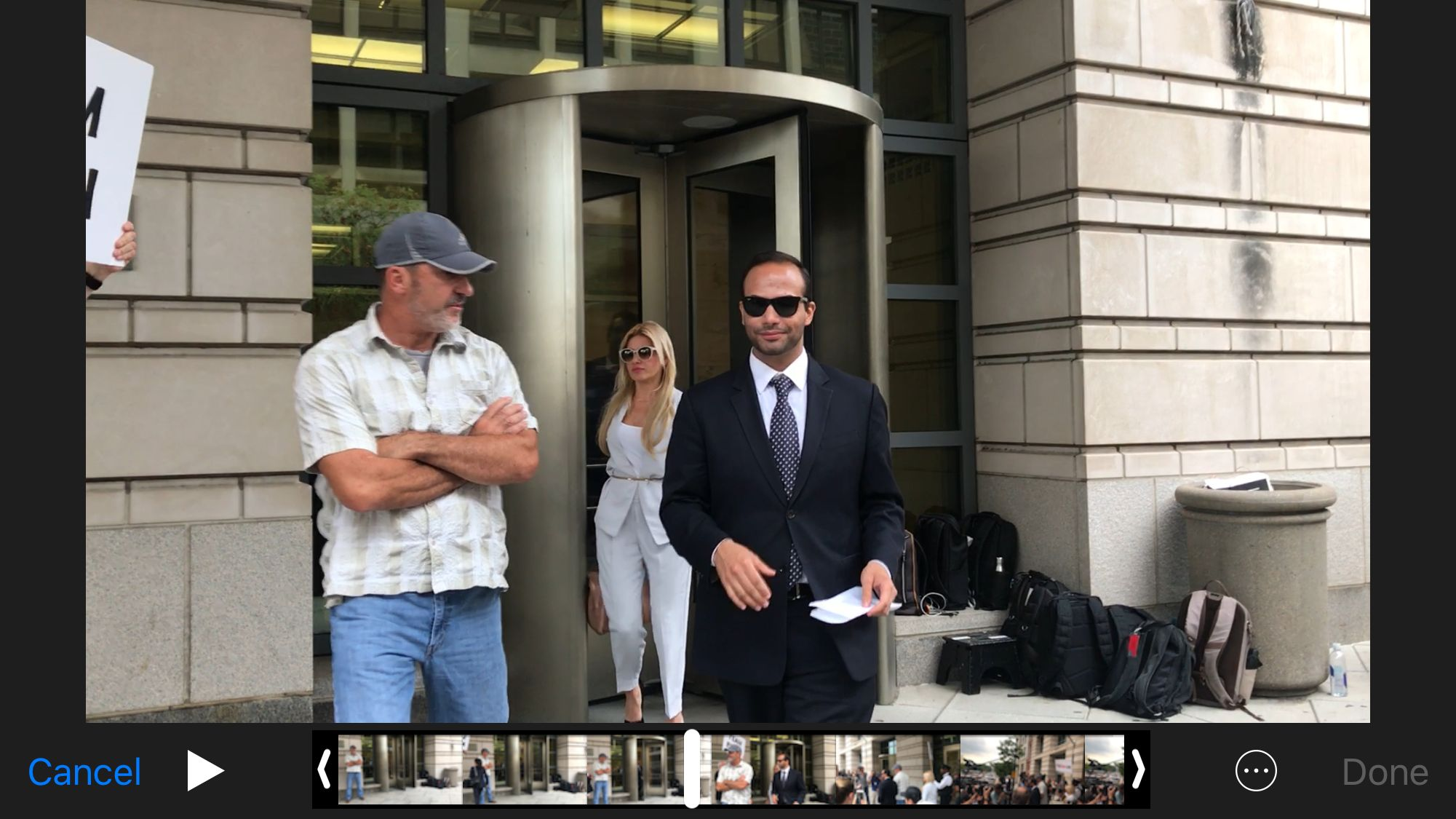 George Papadopoulos leaves federal court on Friday
