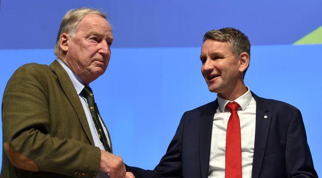 AfD-Chef Alexander Gauland und der Thüringer Vorsitzende Björn