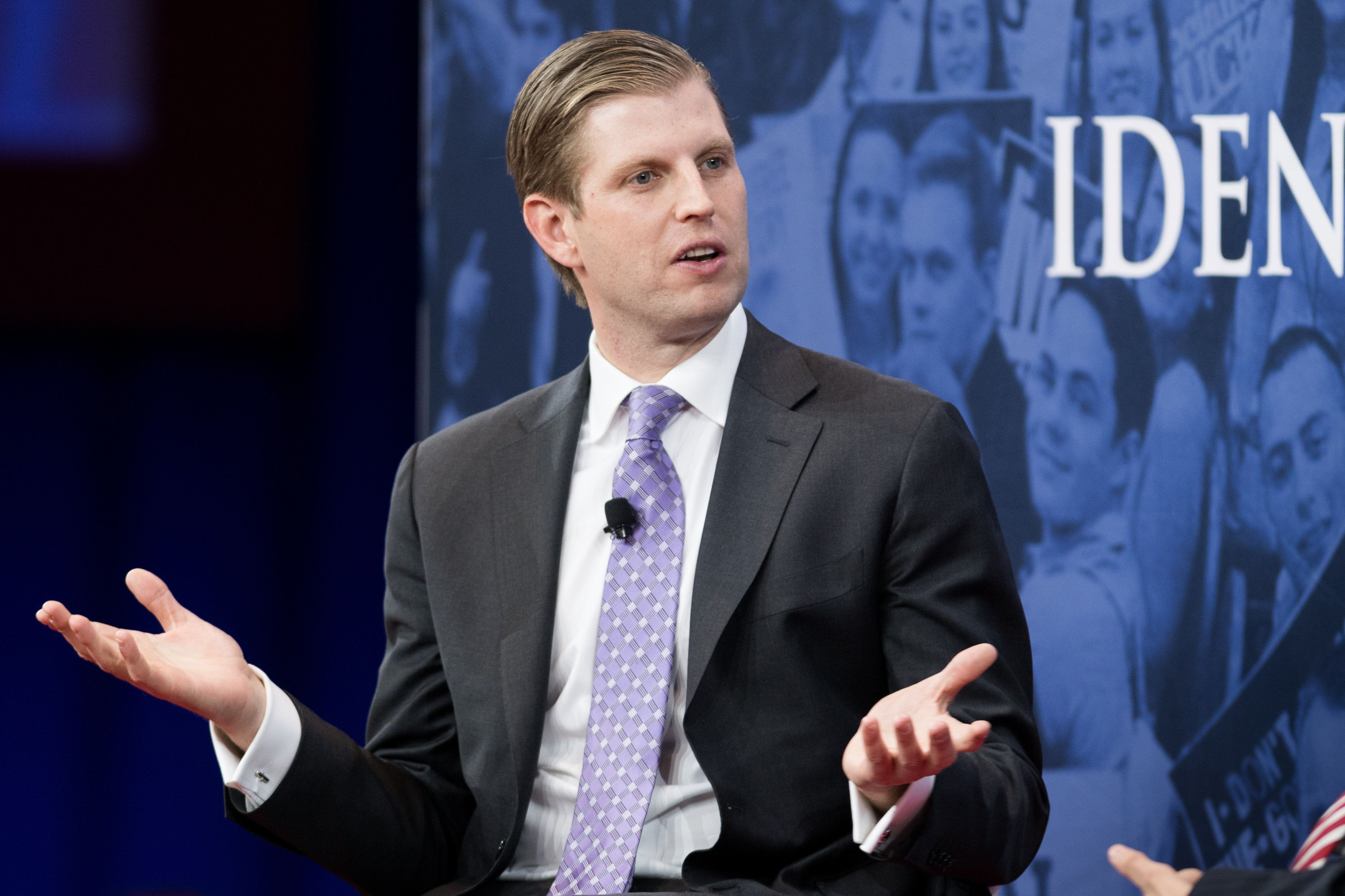 Eric Trump at the Conservative Political Action Conference (CPAC) sponsored by the American Conservative Union held at the Gaylord National Resort & Convention Center in Oxon Hill, MD on February 22, 2018 (Photo by Michael Brochstein/Sipa USA)