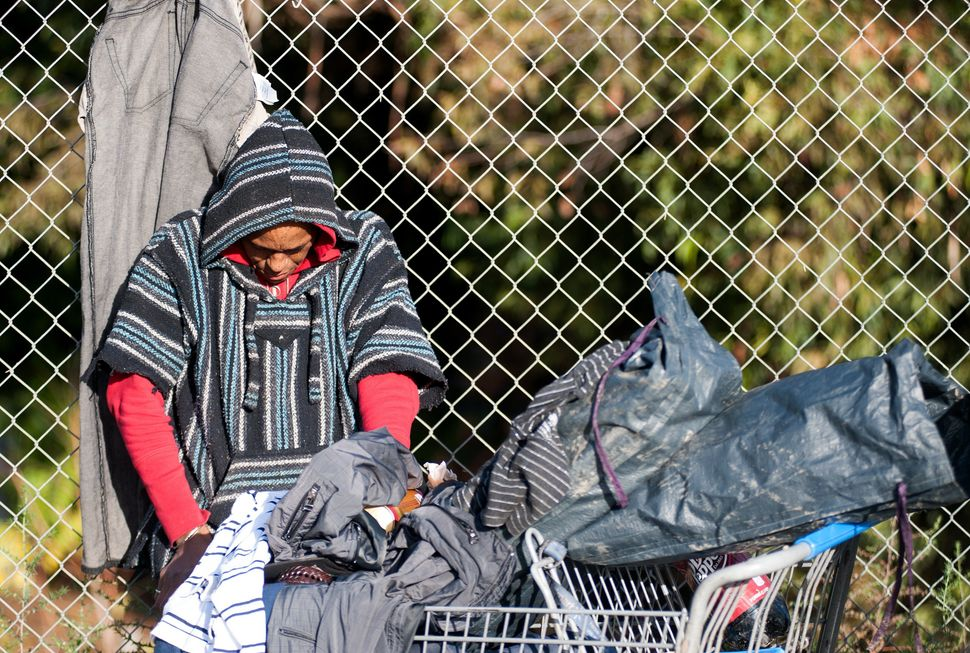 Bulldozers cleared The Jungle homeless camp in San Jose in 2014 and the camp's 300 or so residents were forced to move on.&nb