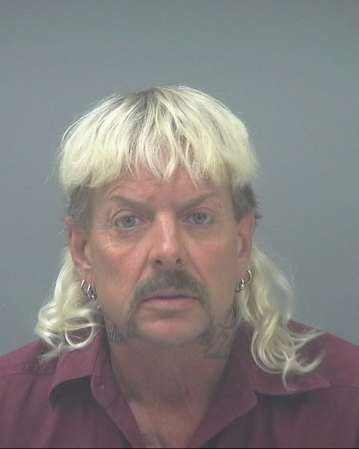 Joe Exotic in a booking photo from his arrest.