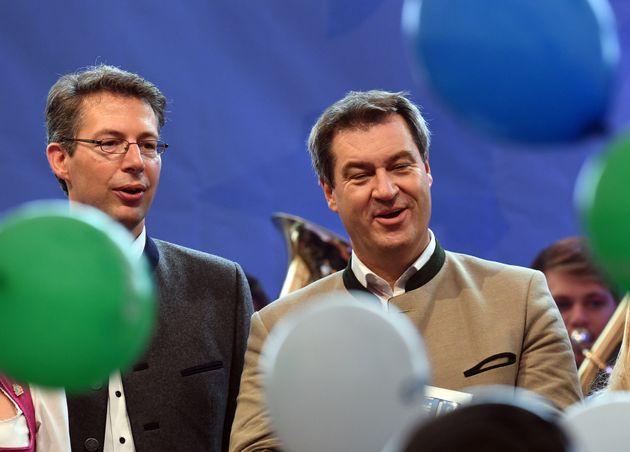 Markus Blume und Markus Söder.