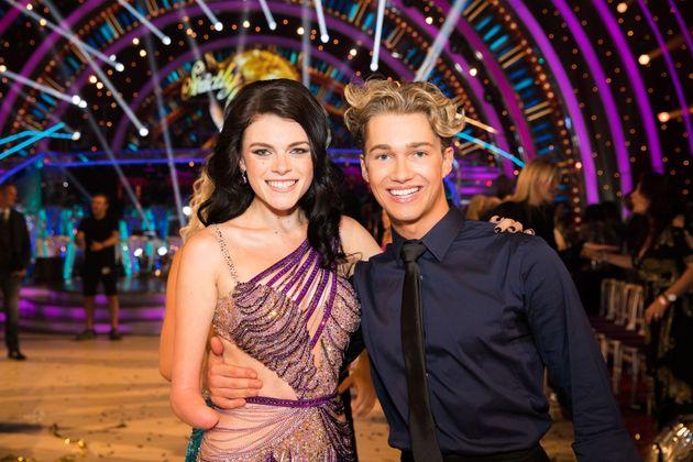 Paralympian Lauren Steadman and her partner, AJ
