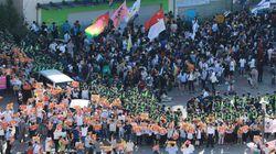 인천퀴어문화축제 가로막은 반대집회 참가자들이