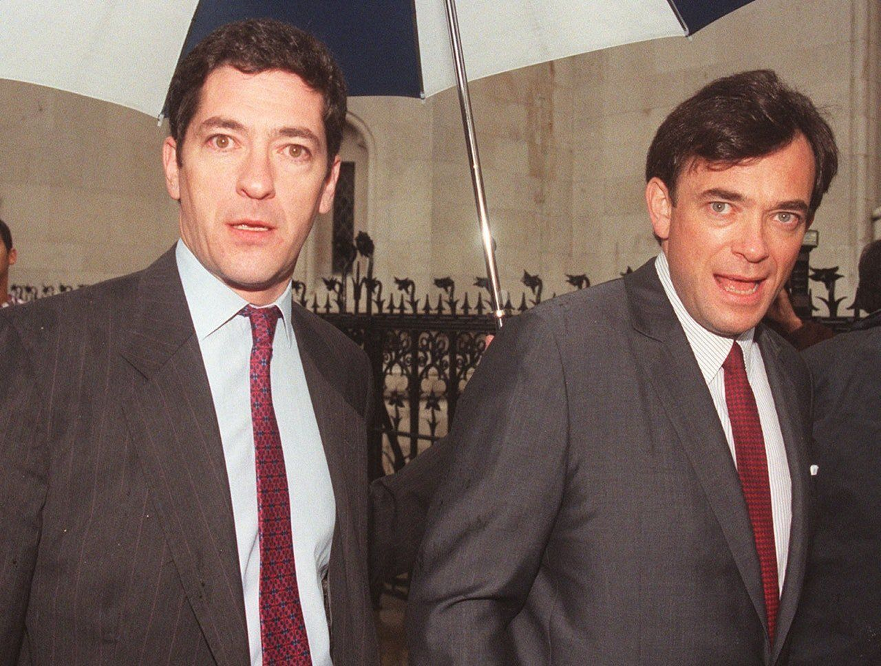 Kevin and Ian Maxwell outside the High Court on the day they learned they would not face a second trial...