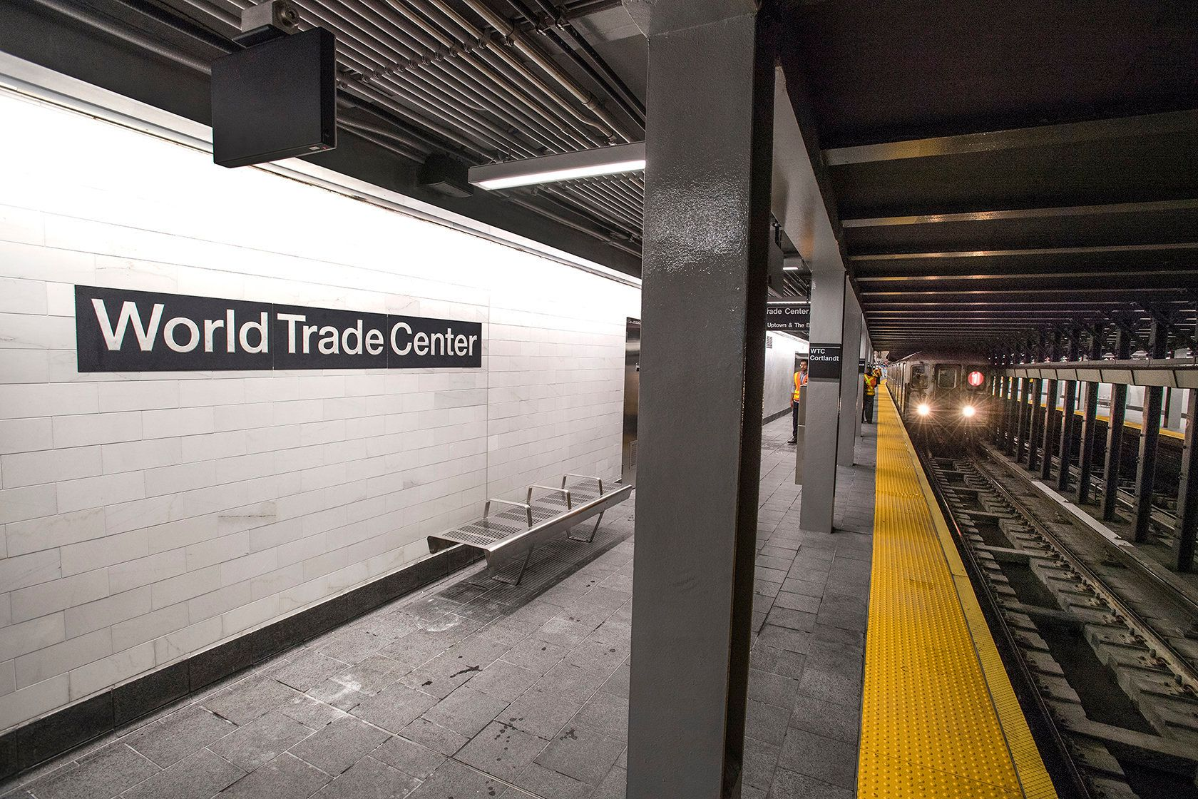 WTC Cortlandt opened on Saturday The station and its 1200-feet of tunnel and tracks were rebuilt within the same footprint of the previous station