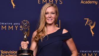LOS ANGELES, CA - SEPTEMBER 08:  Shauna Duggins poses in the press room at the 2018 Creative Arts Emmy Awards at Microsoft Theater on September 8, 2018 in Los Angeles, California.  (Photo by Alberto E. Rodriguez/Getty Images)