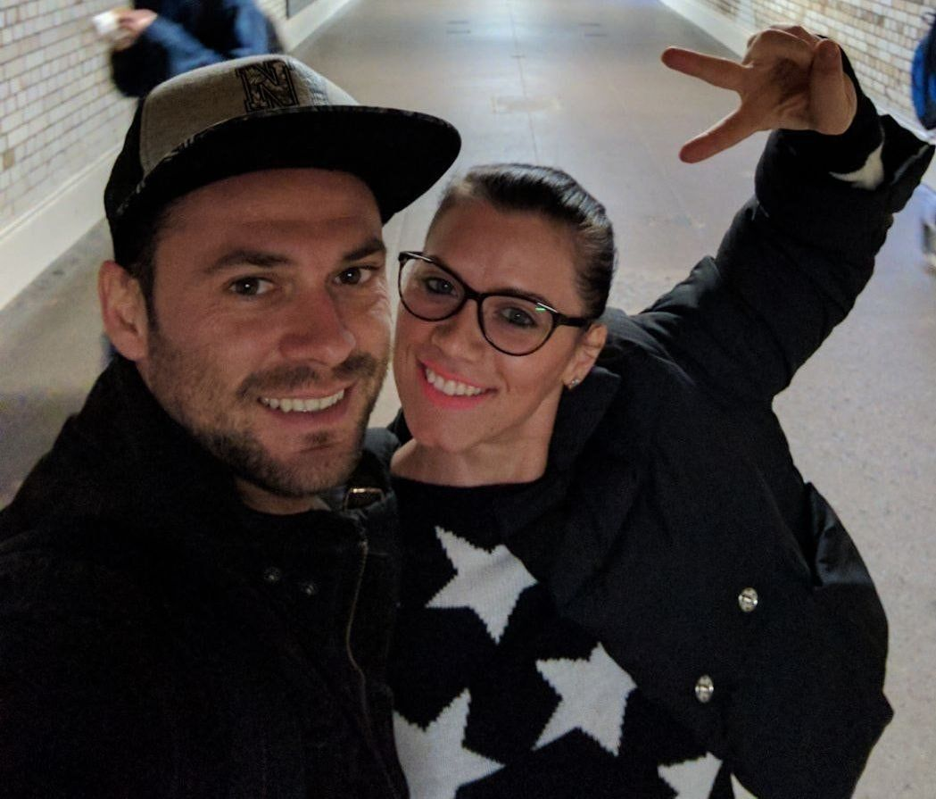 Andreea Cristea with her partner Andrei
