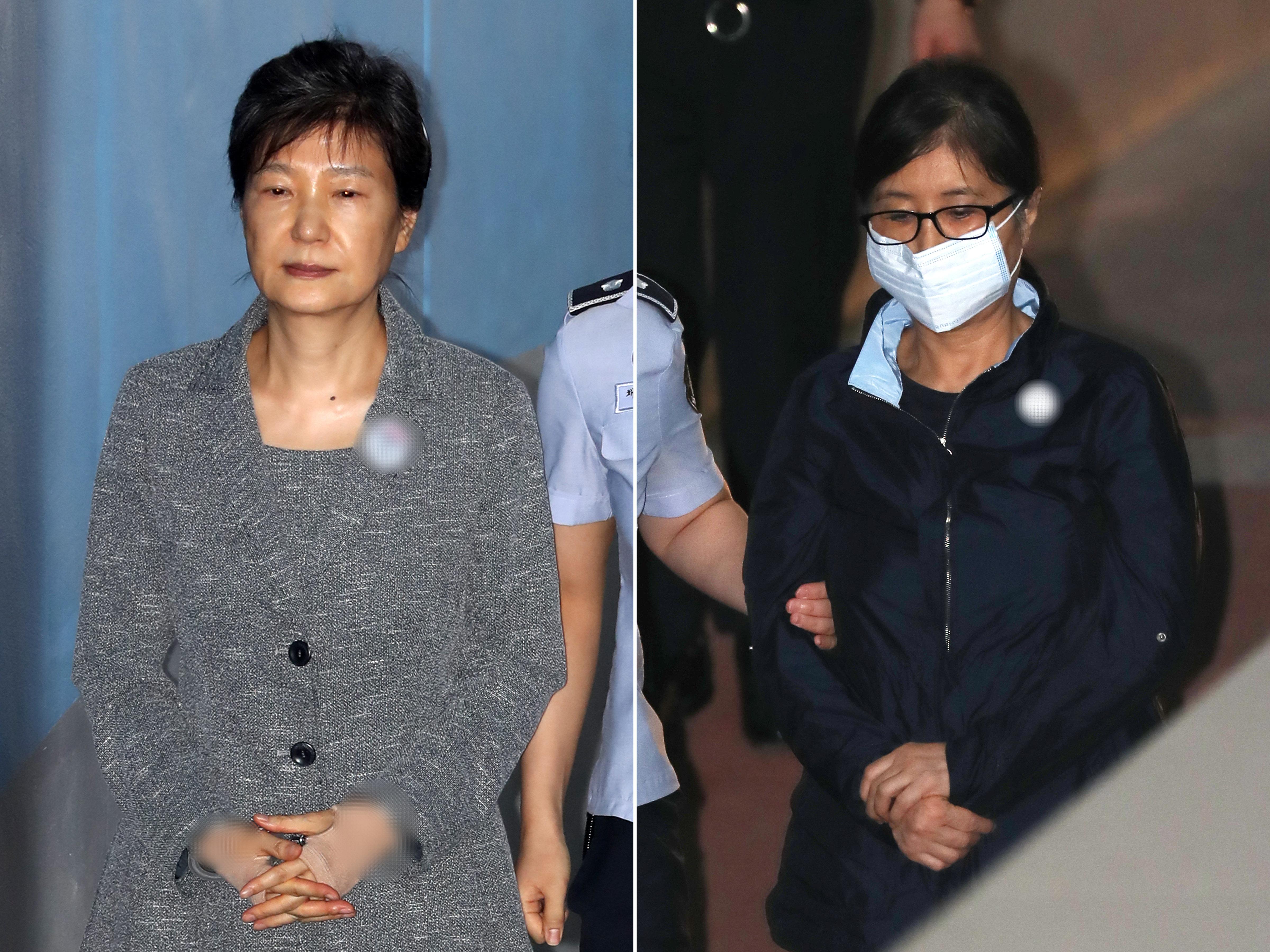 구속 중인 박근혜와 최순실의 기록은 전혀