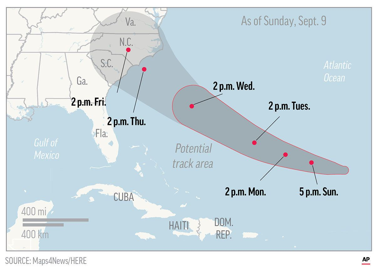 Florence to become extremely unsafe  hurricane by Thursday: NHC
