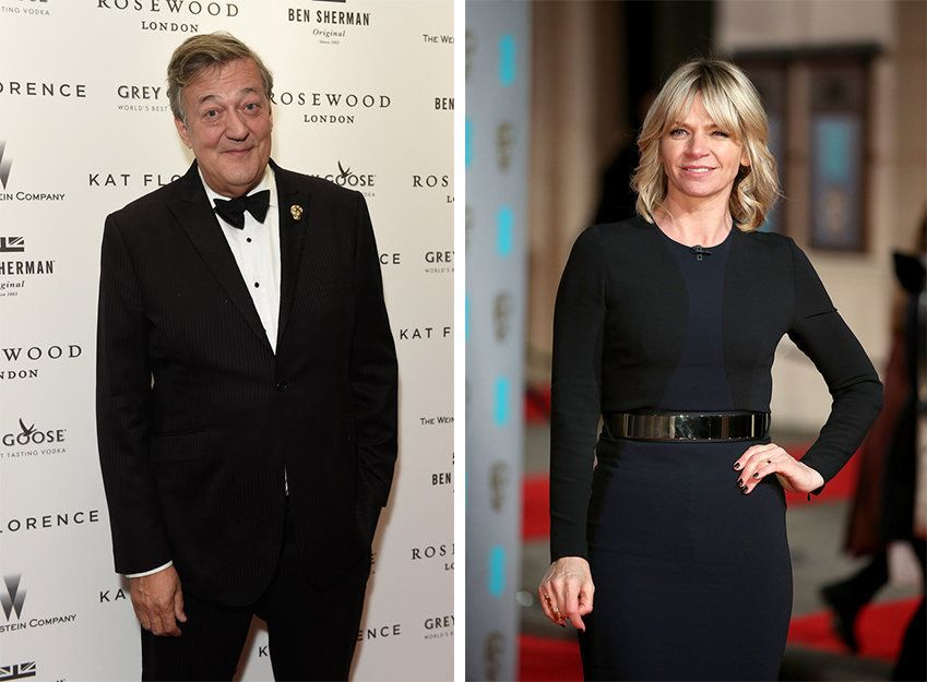 Stephen Fry and Zoe Ball have both signed the