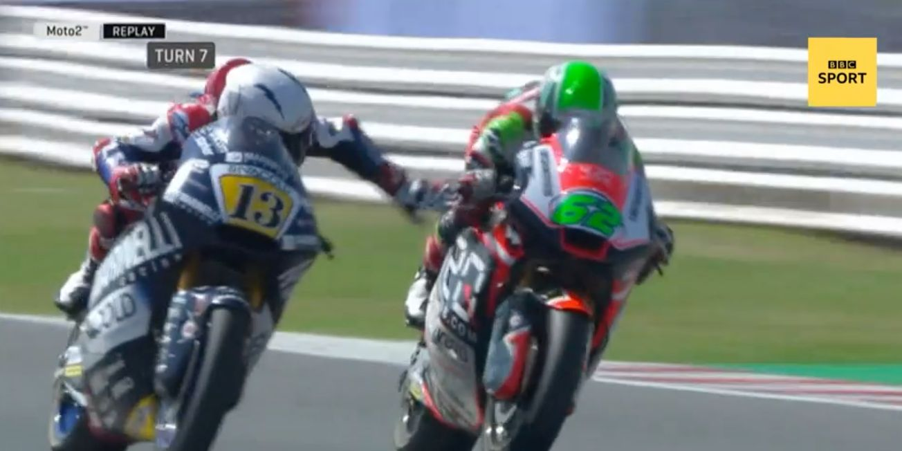 This Is The Horrifying Moment A Motorbike Racer Pulled His Rival's Brake At