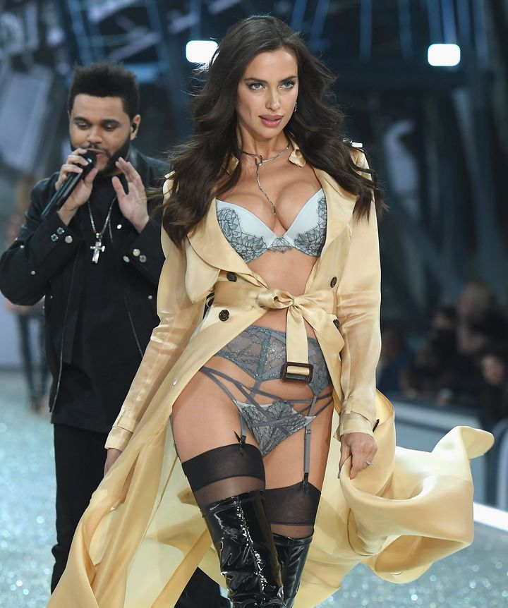 Irina Shayk pictured during the 2016 Victoria's Secret Fashion Show.