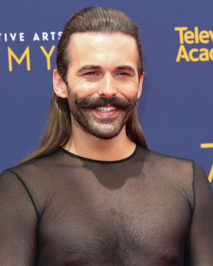 Jonathan Van Ness attends the 2018 Creative Arts Emmy Awards on Sept. 9, 2018, in Los Angeles.